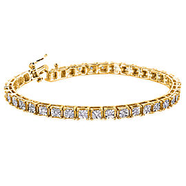 Square Diamond Bracelet 1/2 Carat (ctw) in Yellow Goldplated Silver