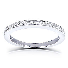 Diamond Wedding Band 1/5 Carat (ctw) in 14K White Gold