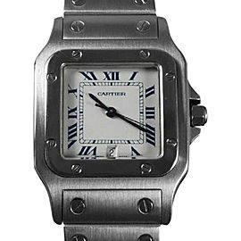 Cartier Mens Santos Galbee 1566 32mm x 41mm Mens Watch