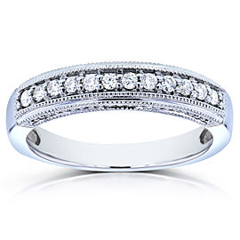 Round Diamond Wedding Band 1/6 CTW in 14K White Gold