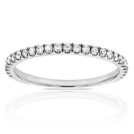 Round-cut Diamond Wedding Band 1/5 CTW in 14k White Gold