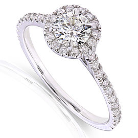 Round-cut Diamond Halo Engagement Ring 5/8 Carat (ctw) in 14k White Gold