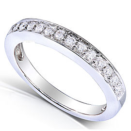 Round-cut Diamond Wedding Band 1/5 Carat (ctw) in 14k White Gold