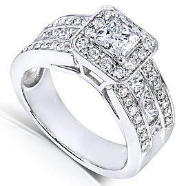 Princess-cut Diamond Engagement Ring 1 2/5 Carat (ctw) in 14k White Gold