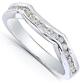 Round Diamond Contoured Band 1/4 Carat (ctw) in 14k White Gold