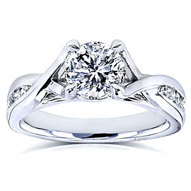 Round-Cut Diamond Braided Engagement Ring 1 1/5 Carat (ctw) in 14k White Gold