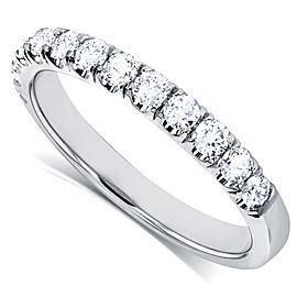 Diamond Comfort Fit Flame French Pave Band 1/2 carat (ctw) in 18k White Gold - 11.0