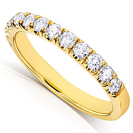 Black Diamond Comfort Fit Flame French Pave Band 1/2 Carat (ctw) in 14K Yellow Gold