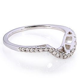 Contoured Diamond Band 1/10 Carat (ctw) in 10k White Gold (Matching Band to Ring 61956-E) - 11.0