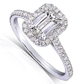 Emerald-Cut Diamond Engagement Ring 1 1/3 Carat (ctw) in 14k White Gold - 11.0