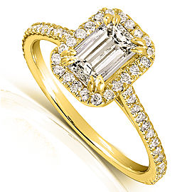 Emerald-Cut Diamond Engagement Ring 1 1/3 Carat (ctw) in 14k Yellow Gold