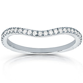 Round-cut Curved Diamond Band 1/5 Carat (ctw) in 14k White Gold