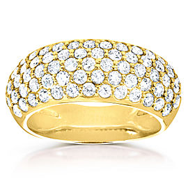 Round-cut Diamond Band 1 1/4 carat (ctw) in 14K Yellow Gold
