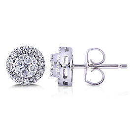 Round Cluster Diamond Stud Earrings 1/4 Carat (ctw) in 10k White Gold
