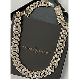 14K Yellow Gold Men's Necklace with Diamonds