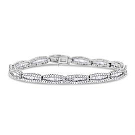 18k White Gold 6.05ct. Diamond Baguette Bracelet