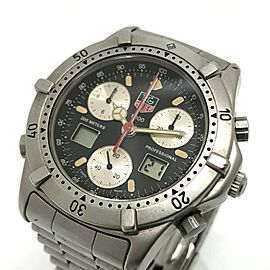 TAG HEUER 260.306 Stainless Steel Chronograph 2000 Series Professional Wrist watch
