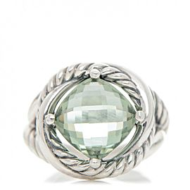 David Yurman Infinity with Prasiolite Ring Size 6.5