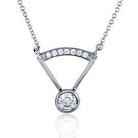 Round-cut Bezel Diamond Necklace 1/3 Carat (ctw) in 14k White Gold
