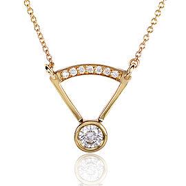 Round-cut Bezel Diamond Necklace 1/3 Carat (ctw) in 14k Yellow Gold