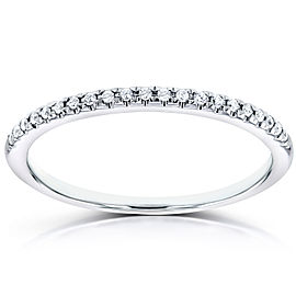 Diamond Petite Wedding Band in 14K White Gold
