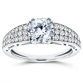 Round Diamond Engagement Ring 1 2/5 Carat (ctw) in 14K White Gold