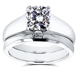 Diamond Classic Solitaire Bridal Set 1 Carat in 14k White Gold