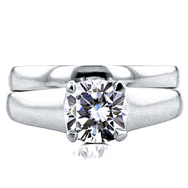 Diamond Classic Solitaire Bridal Set 1 Carat in 14k White Gold