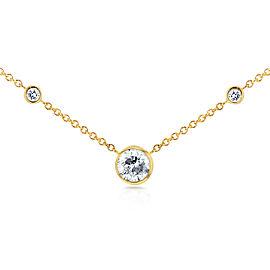 3 Diamond Bezel Necklace 1/3 CTW in 14K Yellow Gold