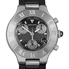 Cartier Chronoscaph 2424 38.5mm x 43.5mm Mens Watch