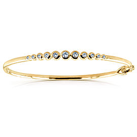 Bezel-Set Diamond Bangle 1/2 ctw in 10k Yellow Gold