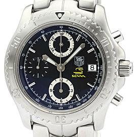 Polished TAG HEUER LINK Chronograph Ayrton Senna Limited Watch CT5114