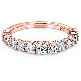 3/4 Carat TDW Graduated Diamond Wedding Band in 14k Rose Gold