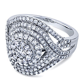 Cluster Diamond Composite Ring 1 1/2 CTW in 10k White Gold