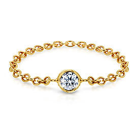 Diamond Chain Ring 1/10 CTW in 14k Yellow Gold
