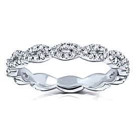 Diamond Braided Eternity Wedding Ring 1/3ct TDW in 10k White Gold