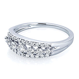 Diamond Multi-row Wedding Ring 2/5ct TDW in 10k White Gold
