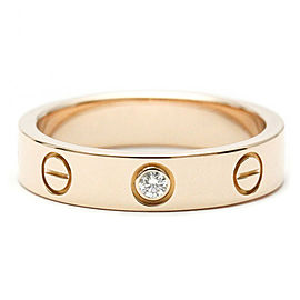 CARTIER 18k Pink Gold Mini Love Diamond Ring