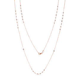 Diamond 30 Inch Station Necklace 1 1/2 CTW 14k Rose Gold