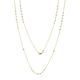 Diamond 30 Inch Station Necklace 1 1/2 CTW 14k Yellow Gold