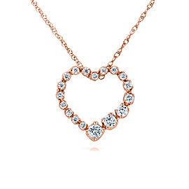 Diamond Journey Heart Pendant 1/4 CTW 10k Rose Gold