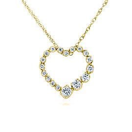 Diamond Journey Heart Pendant 1/4 CTW 10k Yellow Gold