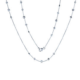 Diamond 30 Inch Station Necklace 1 2/5 CTW 14k White Gold