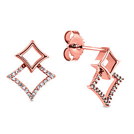 Diamond Kite Earrings 10k Gold - rose-gold