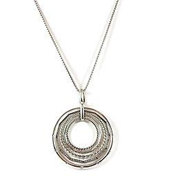 David Yurman 925 Sterling Silver with 0.49tcw Diamond Stax Pendant Necklace