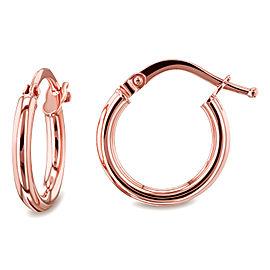 14k Gold Hinged Hoop Earrings (10mm x 2mm) - rose-gold