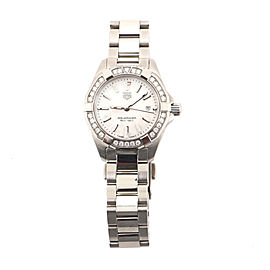 Tag Heuer Aquaracer 300M Quartz Watch Stainless Steel with Diamond Bezel and Mother-of-Pearl 27