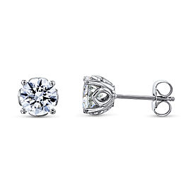 Orchid 2ctw Diamond Studs 14k White Gold