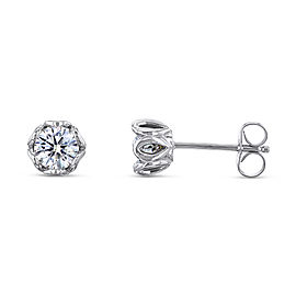 Lily 1ctw Diamond Studs 14k White Gold