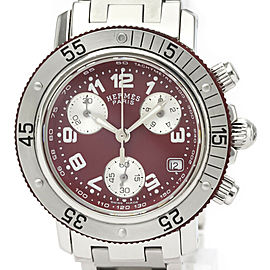 HERMES Clipper Stainless steel/Rubber Diver Chronograph Quartz Watch
